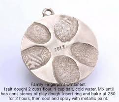 diy family fingerprint ornament the frugal