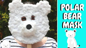 winter crafts for kids paper plate polar bear mask youtube