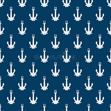 anchor wrapping paper seamless retro blue marine pattern with anchor wrapping paper