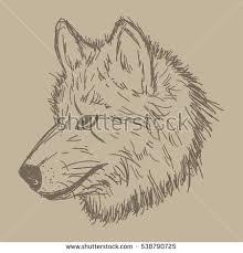 wolf technology vector logo template wild stock vector 544044841