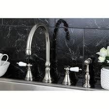 kingston brass ks2798plbs governor deck mount kitchen faucet with