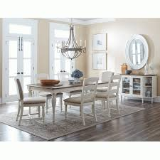 castle hill antique white oak 7 piece dining set rectangular