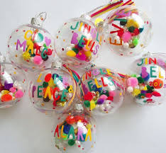 diy personalized baubles diy colorful tree