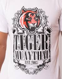 t shirt tiger ornament cotton white tmt fightstore