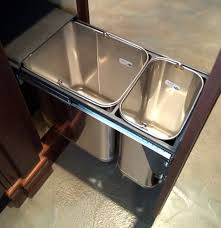 Kitchen Island With Garbage Bin Hidden Trash Can Cabinet Diy Tiltout Trash Bin Wooden Trash