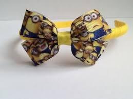 minion ribbon handmade minion ribbon hair bow band headband