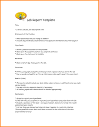 lab report template it report template for word new 6 lab report template word