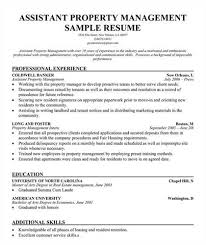 Property Manager Resume Samples by Assistant Property Management Resume Objective