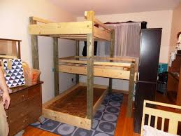 bunk beds triple bunk bed plans ana white used wood bunk beds
