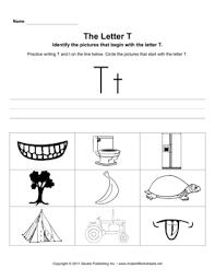 letter t pictures u2014 instant worksheets