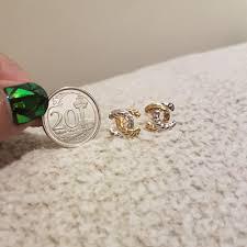 cc earrings qoo10 916 gold cc earring jewelry