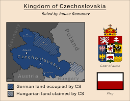 Czechoslovakia Map Romanov Czechoslovakia By Soaringaven On Deviantart