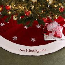 velvet personalized tree skirt