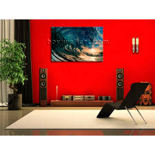 big wall art canvas print hd ocean wave surf sunset contemporary