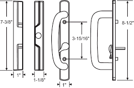 Patio Handle Mortise Style Sliding Glass Door Handle Sets Patio Door Parts