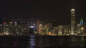 Christmas Laser Light Show Hong Kong Skyline Light Show With Laser Lights Stock Footage Video