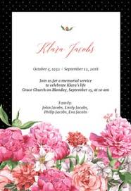 funeral invitation template free free memorial card templates greetings island