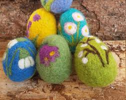 felted easter eggs needle felted eggs etsy
