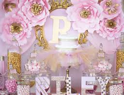 pink and gold cake table decor pink and gold about to pop dessert table baby shower ideas 1093x729