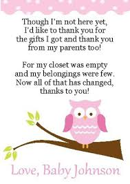 thank you cards for baby shower 2 adorable owl baby shower thank you cards ebay baby things