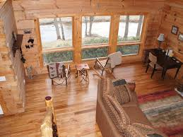 Log Floor by Log Cabin With Direct Access To Watauga Riv Vrbo
