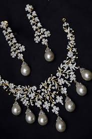 diamond pearl necklace set images Hawney quot only 22 400 bridal 16 42ct diamond pearl necklace jpg