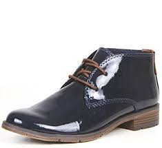 womens navy boots uk marco tozzi womens patent navy blue shoes lace up desert