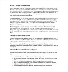 8 character letters of recommendation u2013 free sample example
