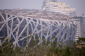 free stock photo of exterior view of the birds nest olympic