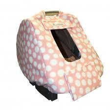 Light Pink Car Infashield Infant Car Seat Cover Fleece Light Pink White Dots