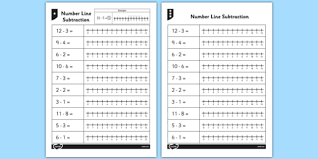 from 12 number line worksheets numberline sheet