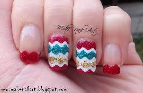 make nail art christmas chevron nails nail art tutorial