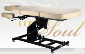 comfort soul massage table pneumatic spa table height adjustable 3 section mila