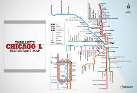 Downtown Chicago Map by Chicago Best Restaurants Cta L Stop Thrillist
