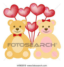 teddy balloons stock illustration of s day teddy with