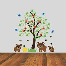 childrens tree with three bears wall sticker by mirrorin