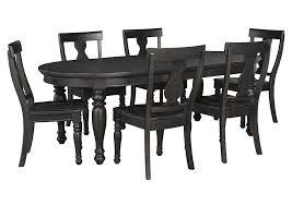 Black Oval Dining Room Table - chatham furniture savannah ga sharlowe charcoal oval dining