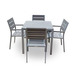 Polywood Outdoor Furniture Reviews by Buy Outdoor Furniture Polywood Dining Table Set 4 Seater At