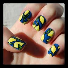 dahlia nails when life gives you lemons
