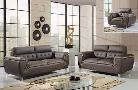 living room furniture denver dark khaki and cappuccino modern 3 piece bonded leather sofa set