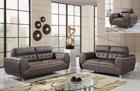 dark khaki and cappuccino modern 3 piece bonded leather sofa set