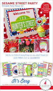 sesame street party sesame street birthday printables