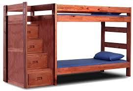Wooden Bunk Bed With Stairs Pine Crafter American Made Quality Furniture Bunk Beds