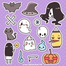 printable spooky kawaii stickers for halloween kawaii japan