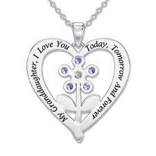 and granddaughter necklace my granddaughter forever gemstone pendant keepsake box the