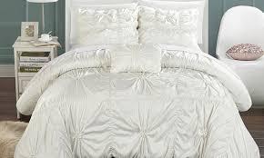 White Duvet Covers Canada 4 Piece Armani Duvet Cover Set Groupon Goods