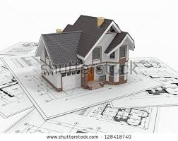 stylized house model floor plan ruler stock illustration 50396893
