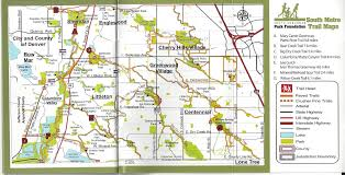 Centennial Colorado Map by Printed Trail Map Book South Suburban Park Foundation