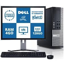 ecran ordinateur de bureau ordinateur de bureau dell optiplex 790 dual 4go ram 128go ssd