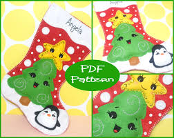 pdf pattern felt christmas stocking pattern christmas tree